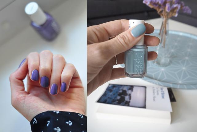 Vernis Essie bleu et violet