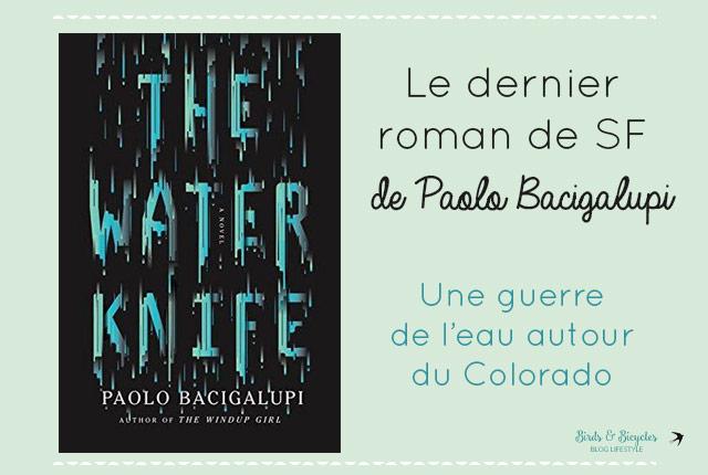 Mon avis sur le roman Water Knife de Paolo Bacigalupi - Un thriller écolo sur l'eau