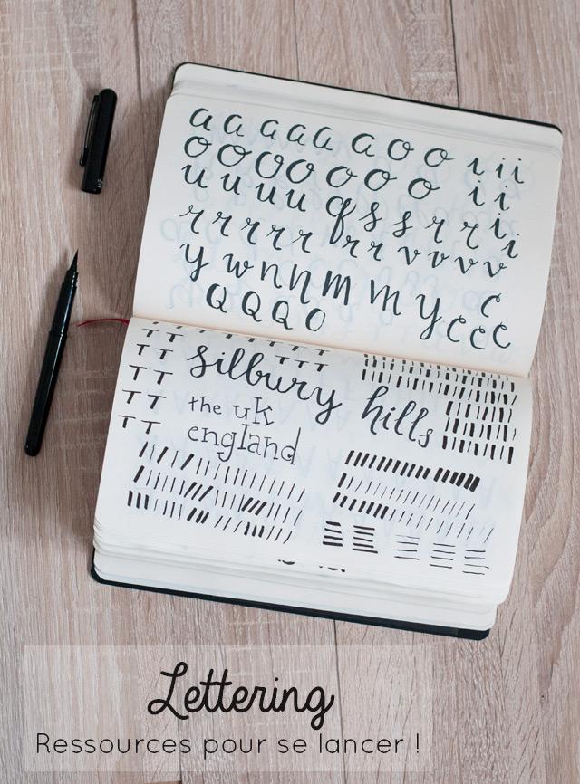 Apprendre le Lettering- des ressources pour se lancer (livres, tutos en ligne, conseils concernant le matériel et les brush pens)