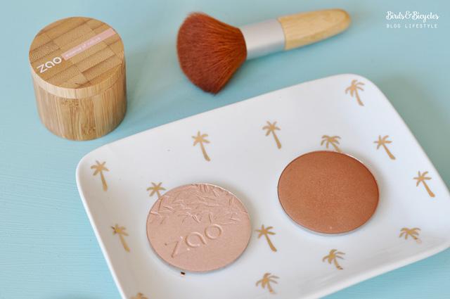 Zao make up maquillage du teint - bronzer et enlumineur nacré
