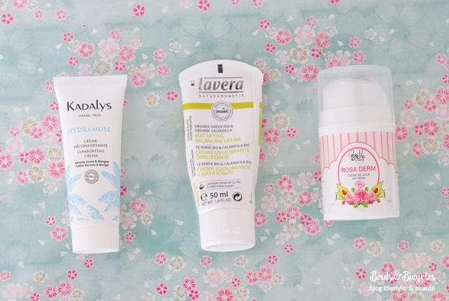 Tests de crèmes bio et comparaison - Kadalys, Lavera, Karethic, Fleurance, Belle Oemine