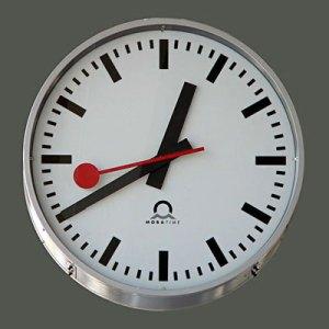 horloge CFF des trains suisses