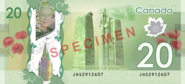 Billet banque canadien