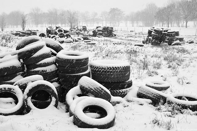 Pneus l'hiver - Crédit Marc Lagneau
