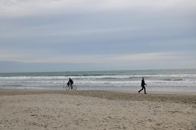 L'hiver à la plage à Montpellier