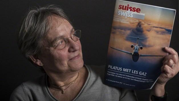 Michèle, présidente de l'Amicale des Suisses du Périgord