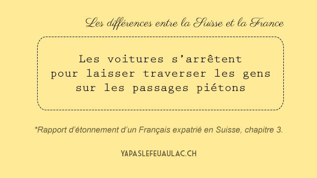 Differences entre la Suisse et la France notes par un expatrie francais (3)