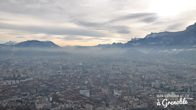 vue depuis la Bastille de Grenoble