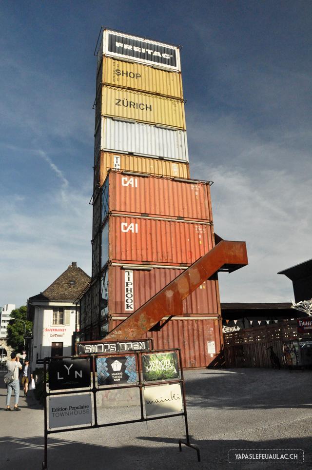 Zurich West: le flagship store de Freitag