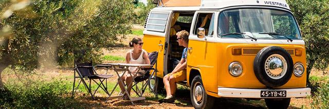 Road-trip en combi VW: le rêve