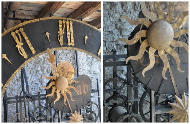 Horloge dans la Musegg Lucerne