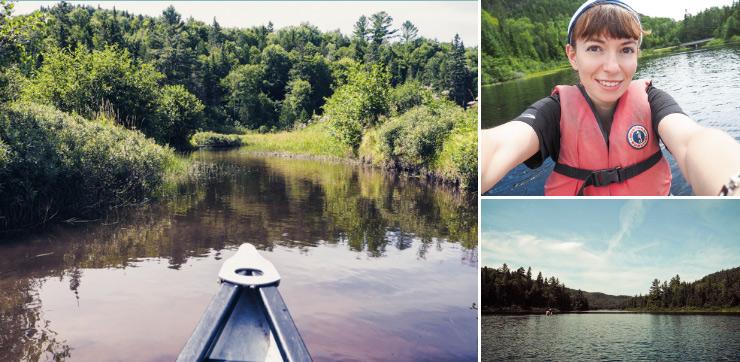 Idée de sortie en canoë au Québec sur le blog Yapaslefeuaulac.ch