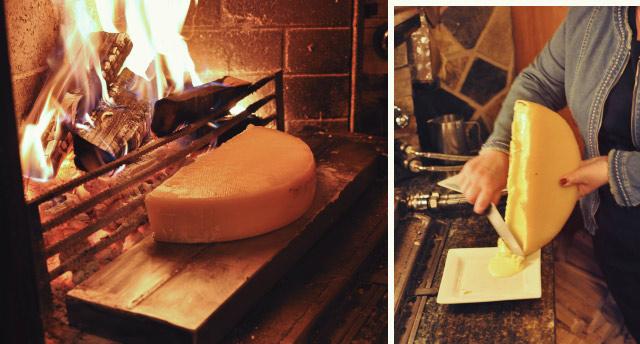Raclette au feu de bois - Adresse en Suisse