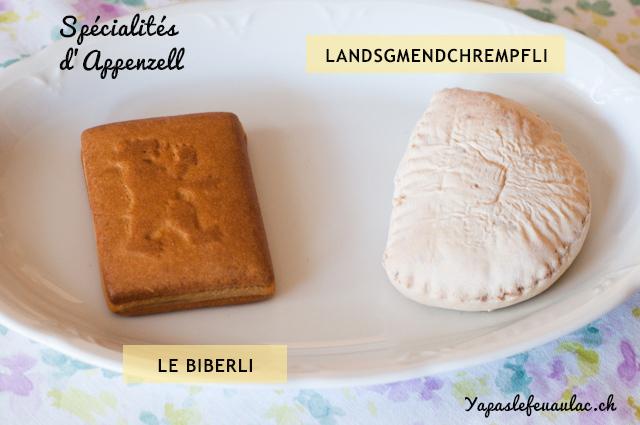 Landsgmendchrempfl et biberli - Spécialités gastronomiques d'Appenzell