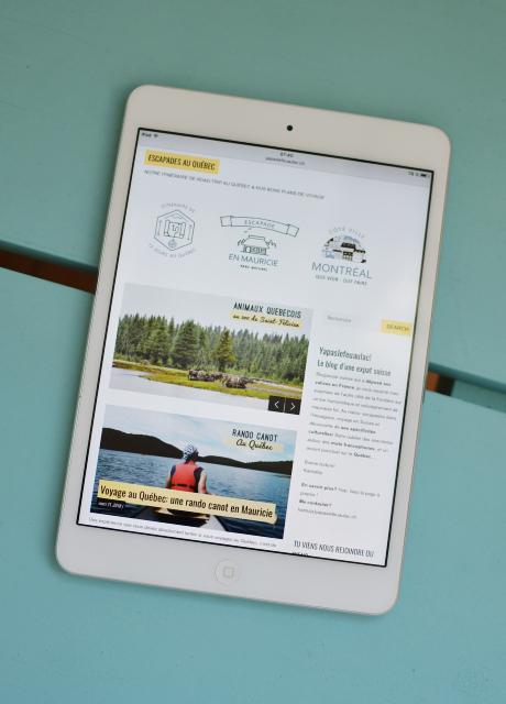 Le blog suisse Yapaslefeuaulac: rubrique Québec et voyage au Québec - tablette
