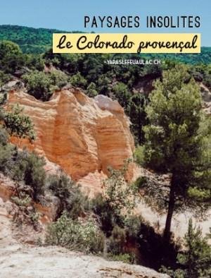 Escapade en Provence dans les anciennes carrières d'ocre. Photo: Yapaslefeuaulac.ch