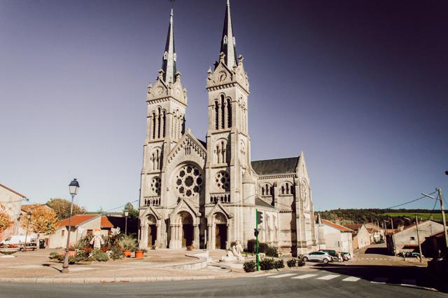 Eglise d'Euville dans la Meuse en Lorraine