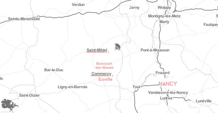Escapade dans la Meuse: la carte