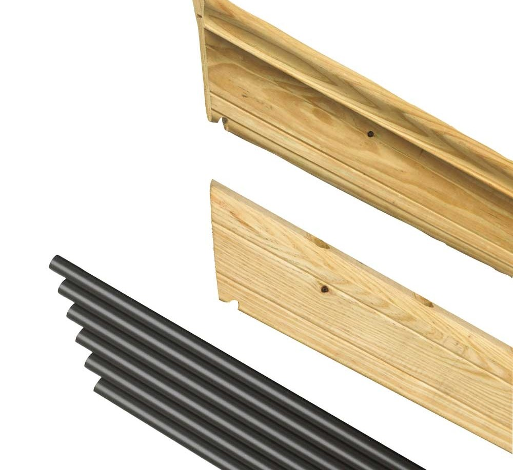 Pressure Treated Wood Outdoor Stair Railing Kit Yard Home | Pressure Treated Stair Treads | Live Edge | Outside | Picture Frame | Step | Unsafe
