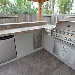 Patio Kitchen Kohler Undermount Sink Outdoor Kitchens Yardbirds Landscaping Extreme Luxury Kingwood Tx