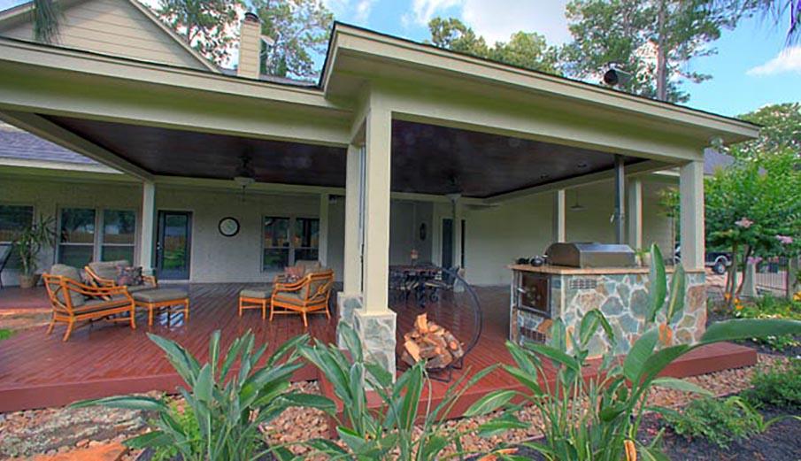 patio kitchen white buffet outdoor kitchens yardbirds landscaping extreme luxury kingwood tx