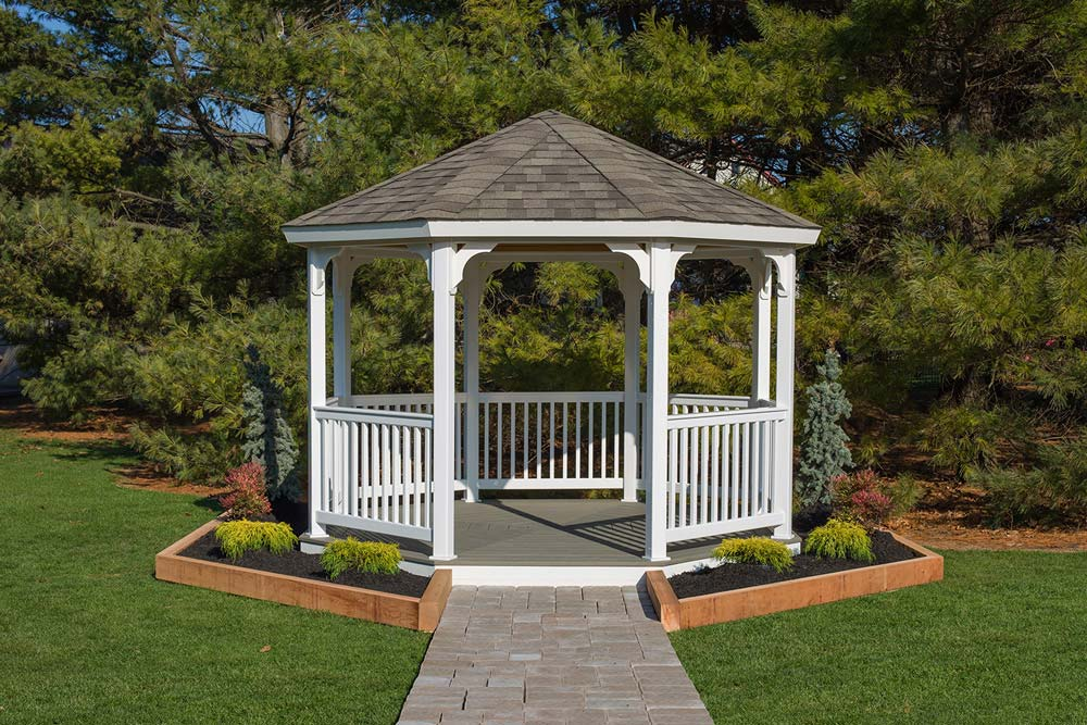 Vinyl Octagon Gazebo Kit Amish Made By Yardcraft
