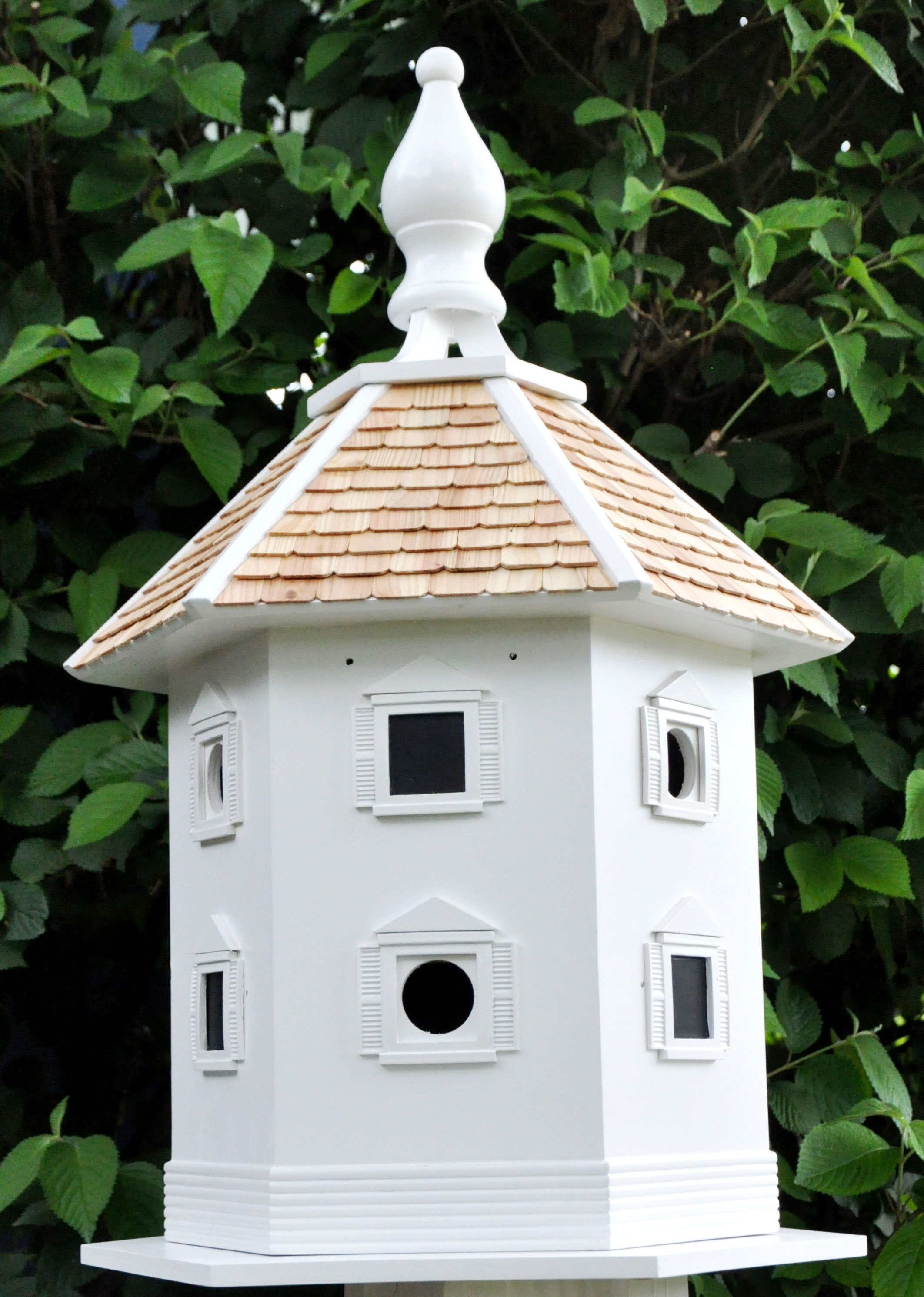 White Danbury DoveCote 6 Room Bird House  Yard Envy