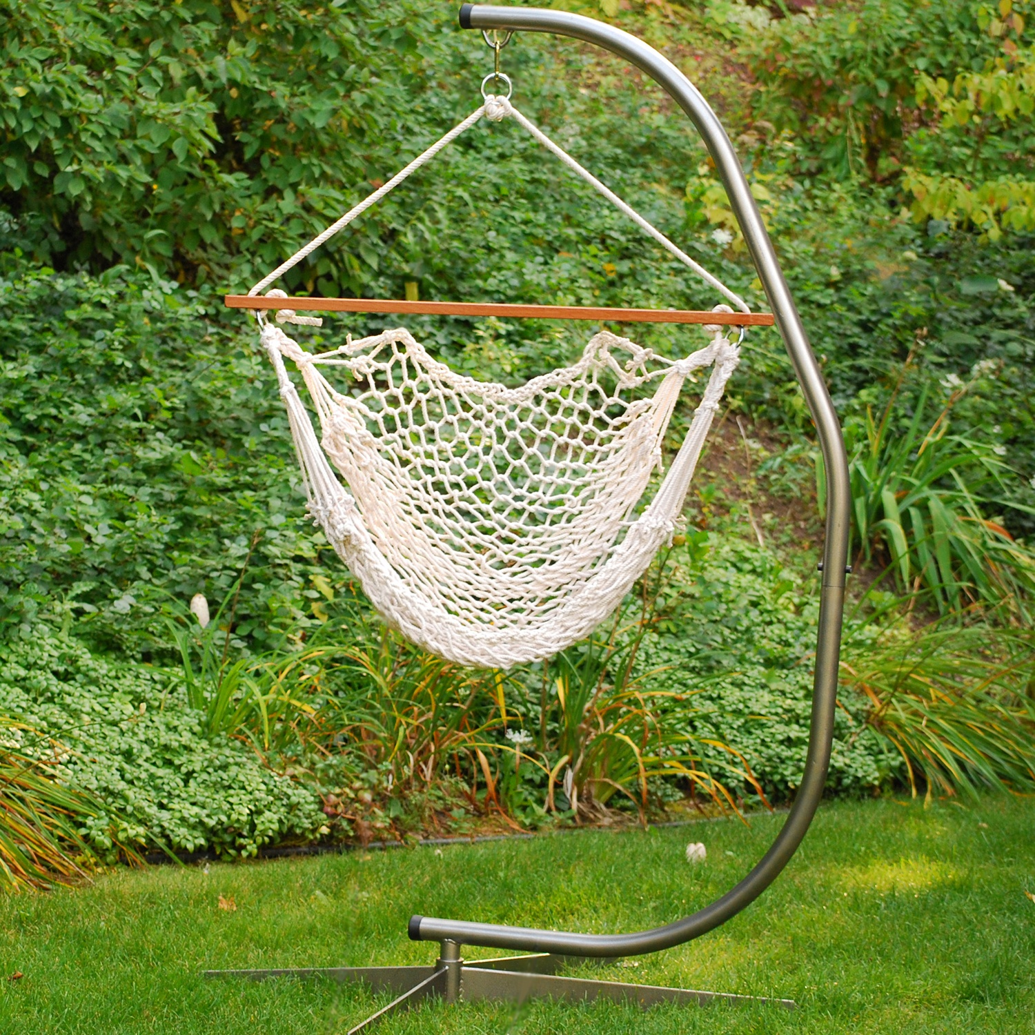 chair hammock stand diy how to build a simple rocking algoma rope yard envy