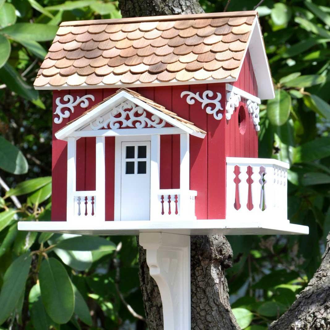 Swedish Cottage Birdhouse  Yard Envy
