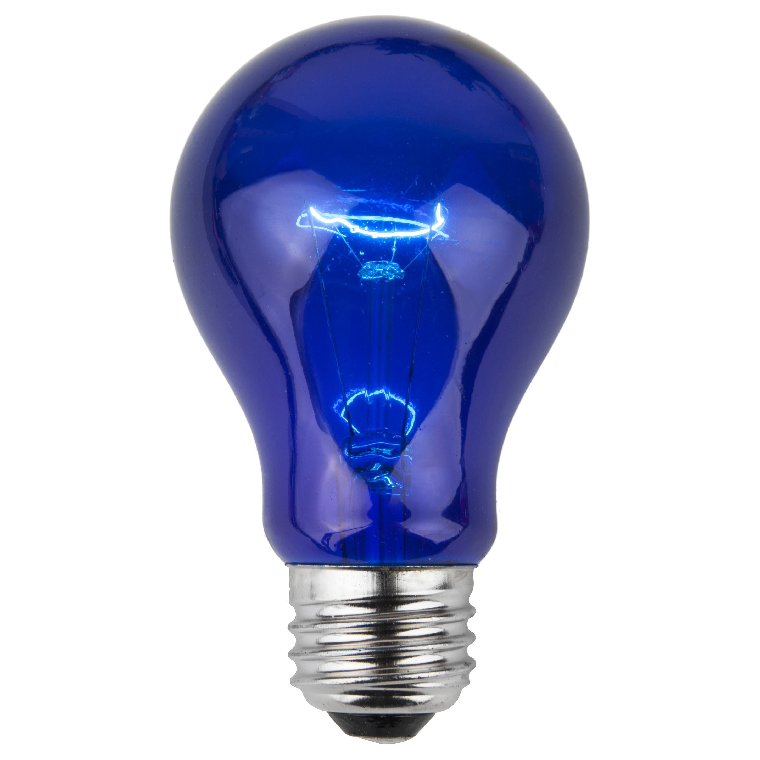 A19 Colored Party Bulbs Blue  Yard Envy