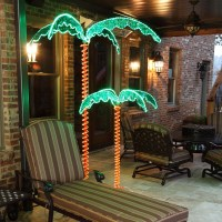 Deluxe Rope Light LED Lighted Palm Tree with Green Canopy ...