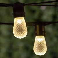 Commercial Patio String Lights, Warm White S14 LED Bulbs ...