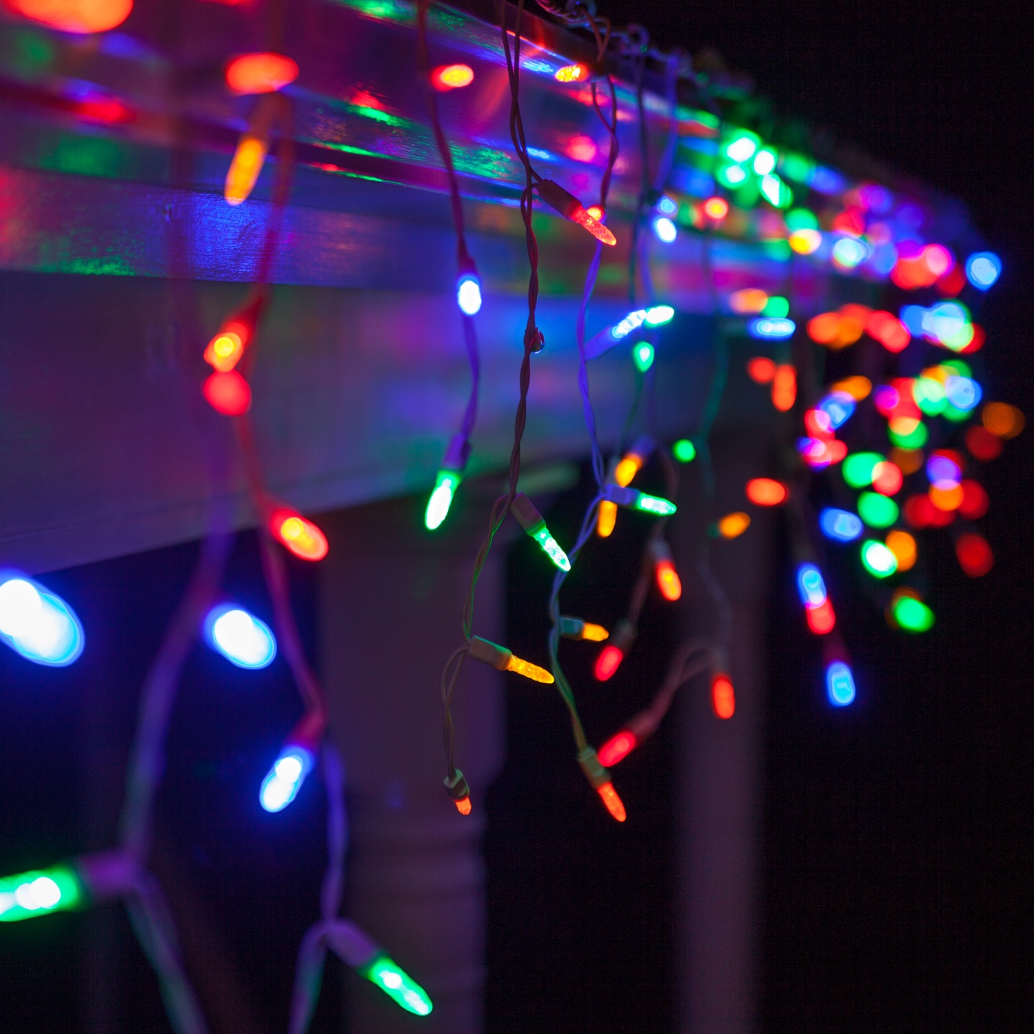 Led Lights Icicle Colored