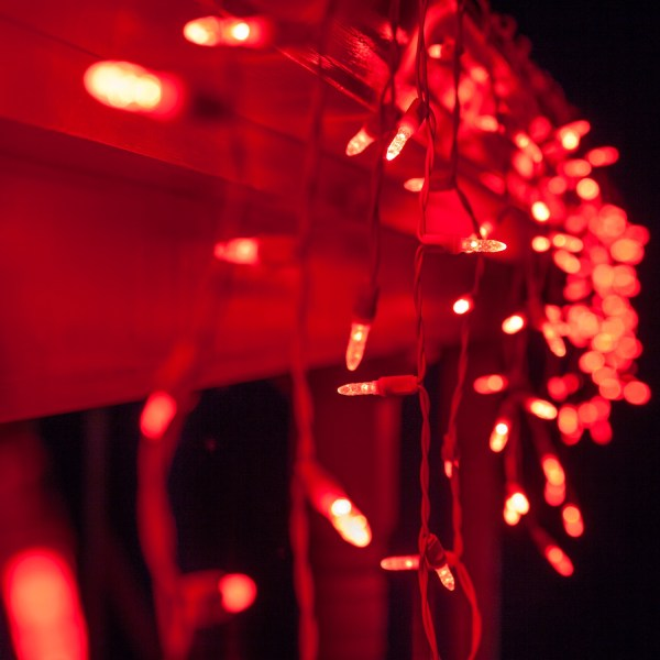 Red White Green LED Icicle Lights