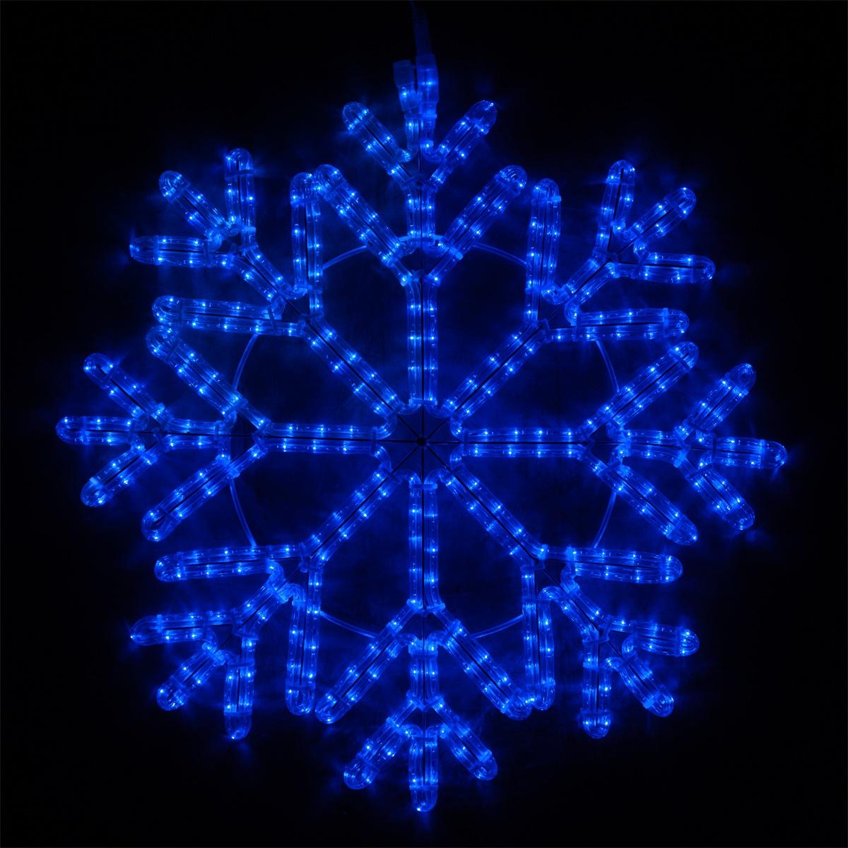 LED 40 Point Snowflake Blue Lights  Yard Envy