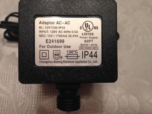 Gemmy Replacement 10a Adapter ONLY