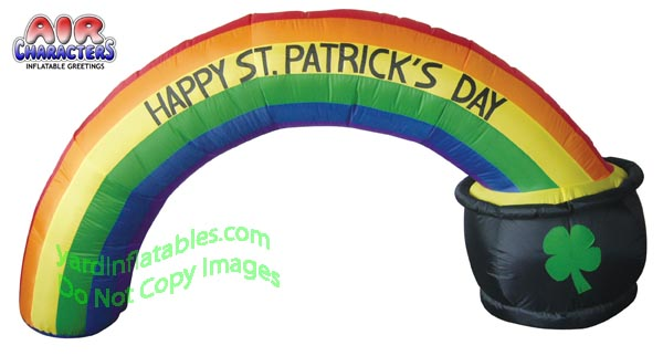 St Patricks Day Rainbow Arch With Pot Of Gold