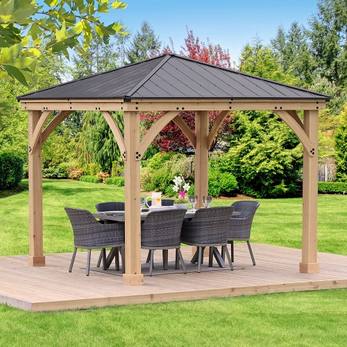 Meridian Gazebo with Graphite Roof 10ft x 10ft