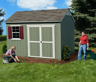 128 Shed with Extra Overhead Storage Space  Burlington  YardLine Sheds at Costco