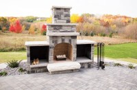 A Backyard Revamp Features Natural Stone Walls, a Paver ...
