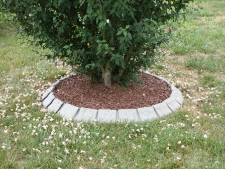 "decorative ""stone"" garden edging"