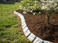 Decorative stone garden edging at Yard Product