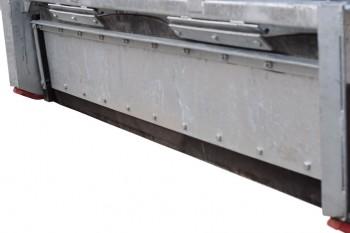 Box scraper rubberblade front
