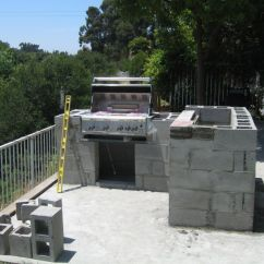 How To Make An Outdoor Kitchen Design Your Own Layout Kitchens Steel Studs Or Concrete Blocks Yard Ideas Blog Construction Using Cinder Block