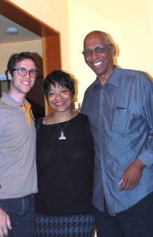 Assistant producer Jacob Horowitz, Yarlung Artists board member Jerri Price-Gaines, Yarlung jazz advisor Billy Mitchell