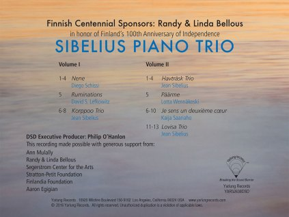 Sibelius Piano Trio Back Cover