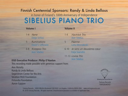 Sibelius Piano Trio Back Cover