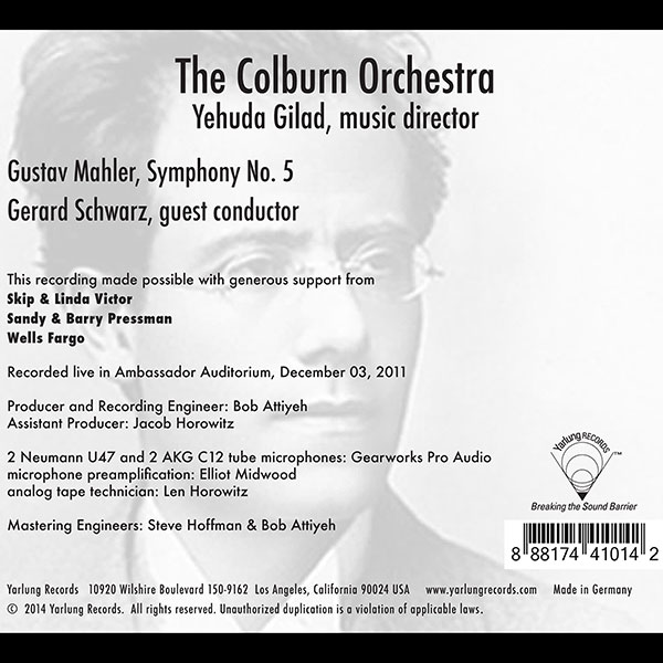 Mahler Symphony 5 | Schwarz | Colburn Orchestra