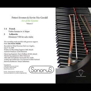 Petterri Iivonen - Art of the Sonata