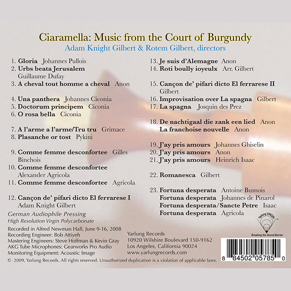 Ciaramella | Music From the Court of Burgandy